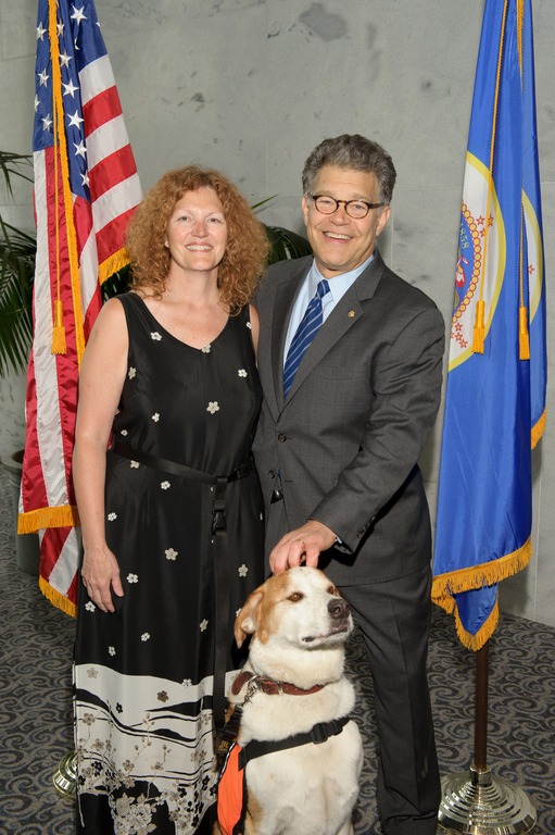 Hunka & Alicia advocate for Veterans with PTSD and TBI in Washington DC with Senator Al Franken. September 2011