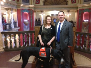 Matt Kuntz with Tela at the MT Capitol 2013 Legislative Session