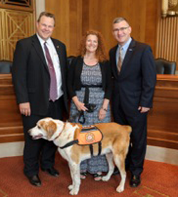 Alicia & Hunka meet with Senators Tester and Walsh in Washington, DC June 2014